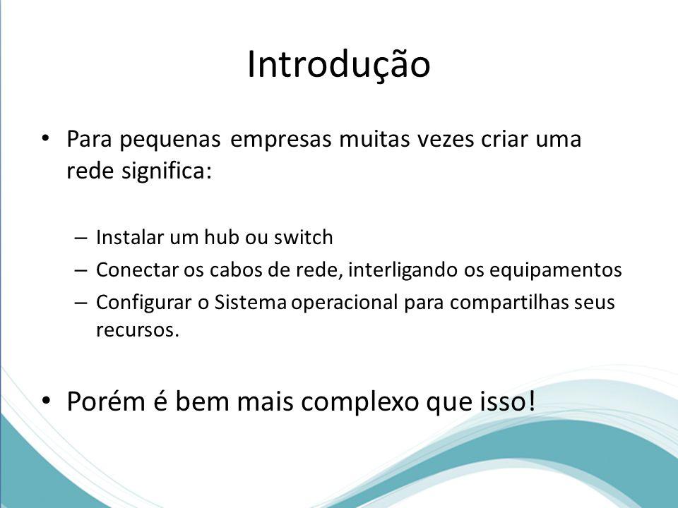 Introdução Porém é bem mais complexo que isso!
