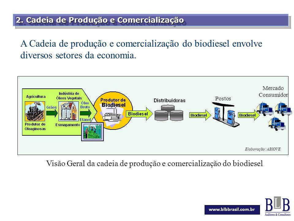 Visão Geral da cadeia de produção e comercialização do biodiesel