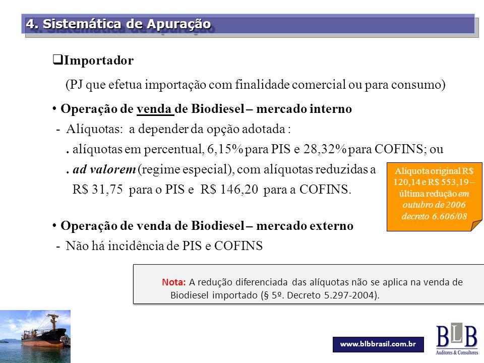 (PJ que efetua importação com finalidade comercial ou para consumo)