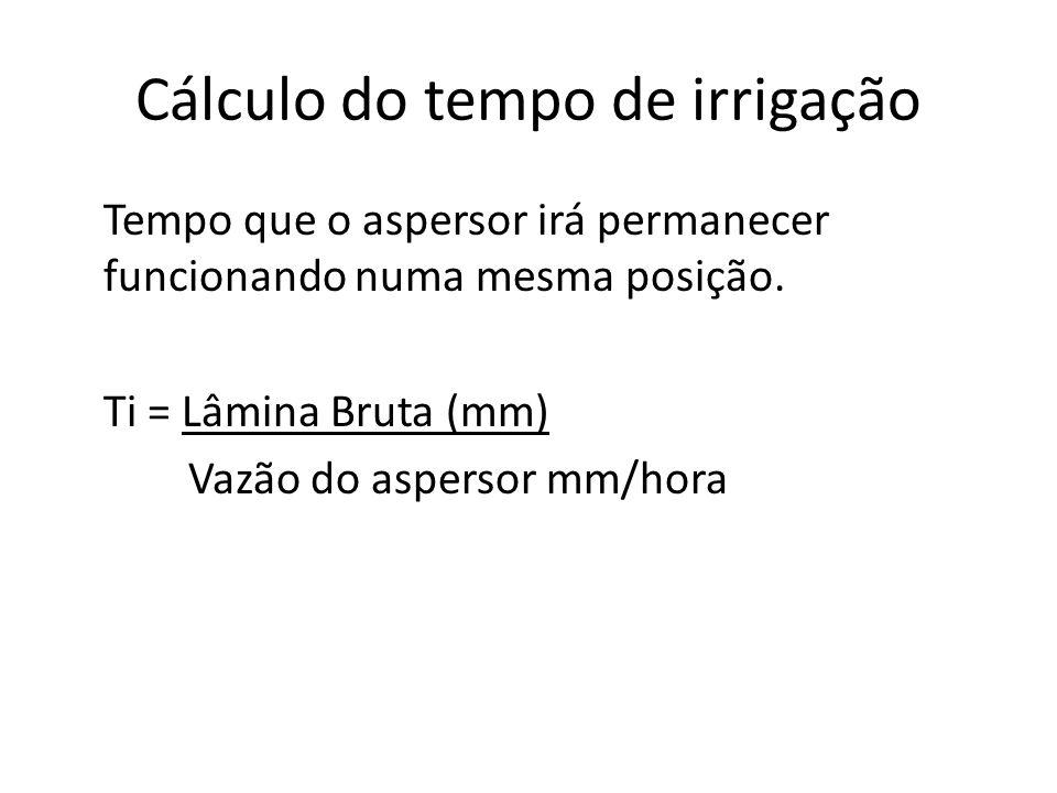 Cálculo do tempo de irrigação
