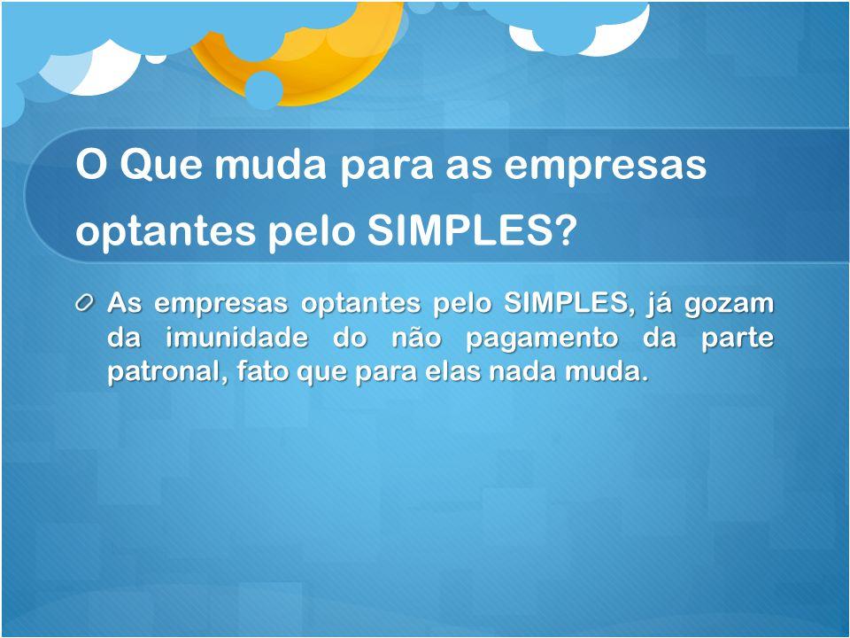 O Que muda para as empresas optantes pelo SIMPLES