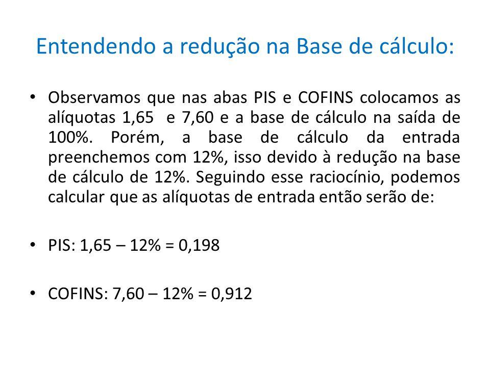 Entendendo a redução na Base de cálculo: