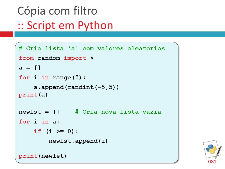 Cópia com filtro :: Script em Python