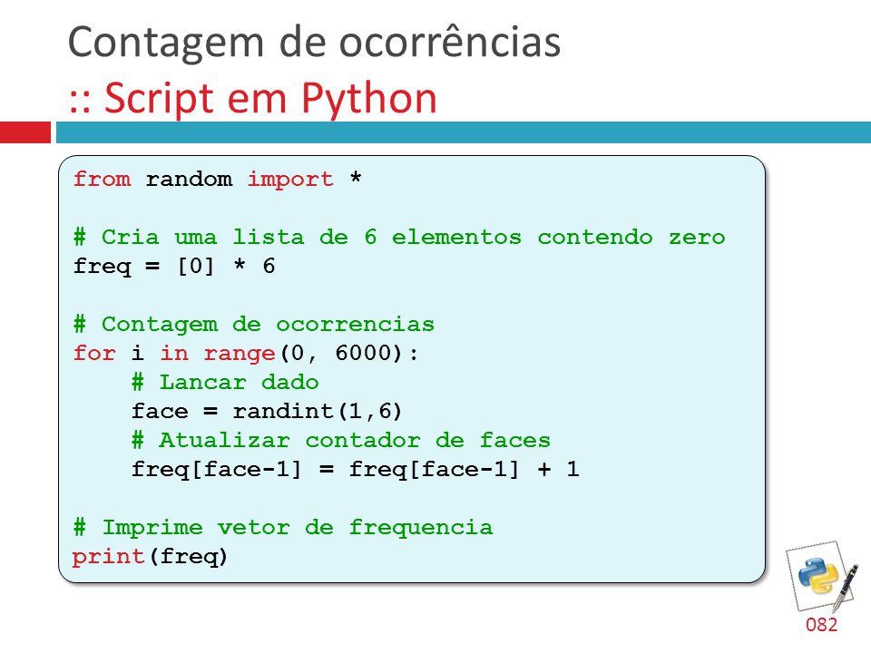 Contagem de ocorrências :: Script em Python