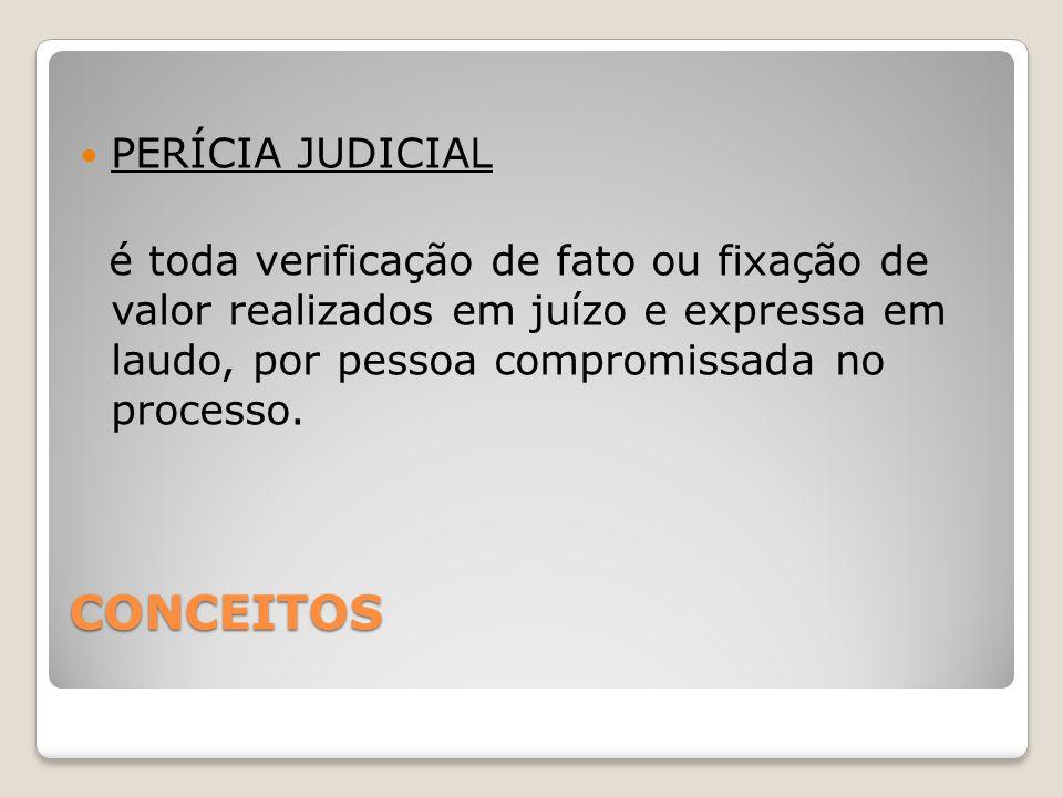 CONCEITOS PERÍCIA JUDICIAL