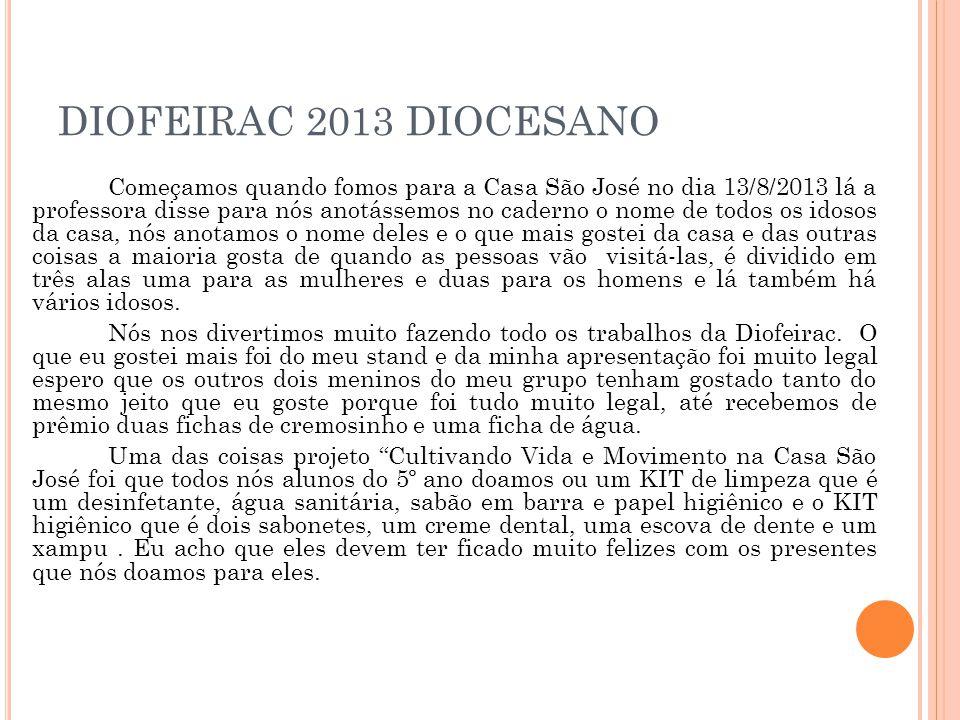 DIOFEIRAC 2013 DIOCESANO