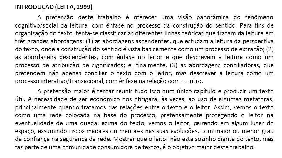 INTRODUÇÃO (LEFFA, 1999)