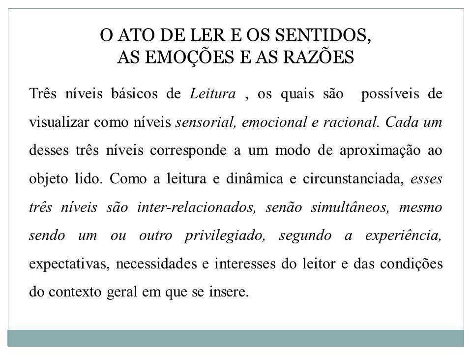 O ATO DE LER E OS SENTIDOS, AS EMOÇÕES E AS RAZÕES