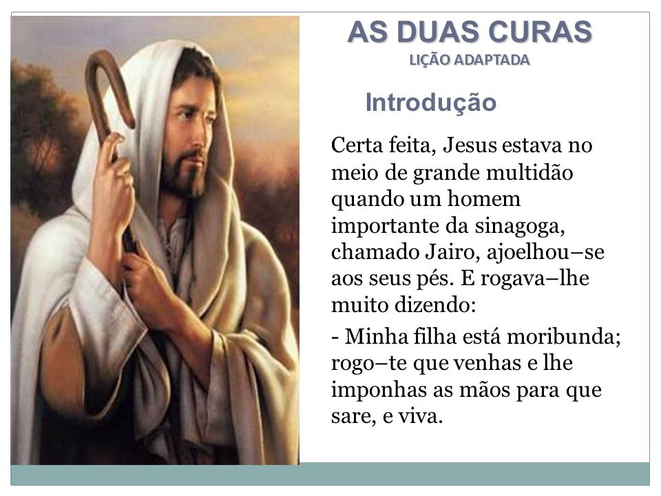 AS DUAS CURAS Introdução