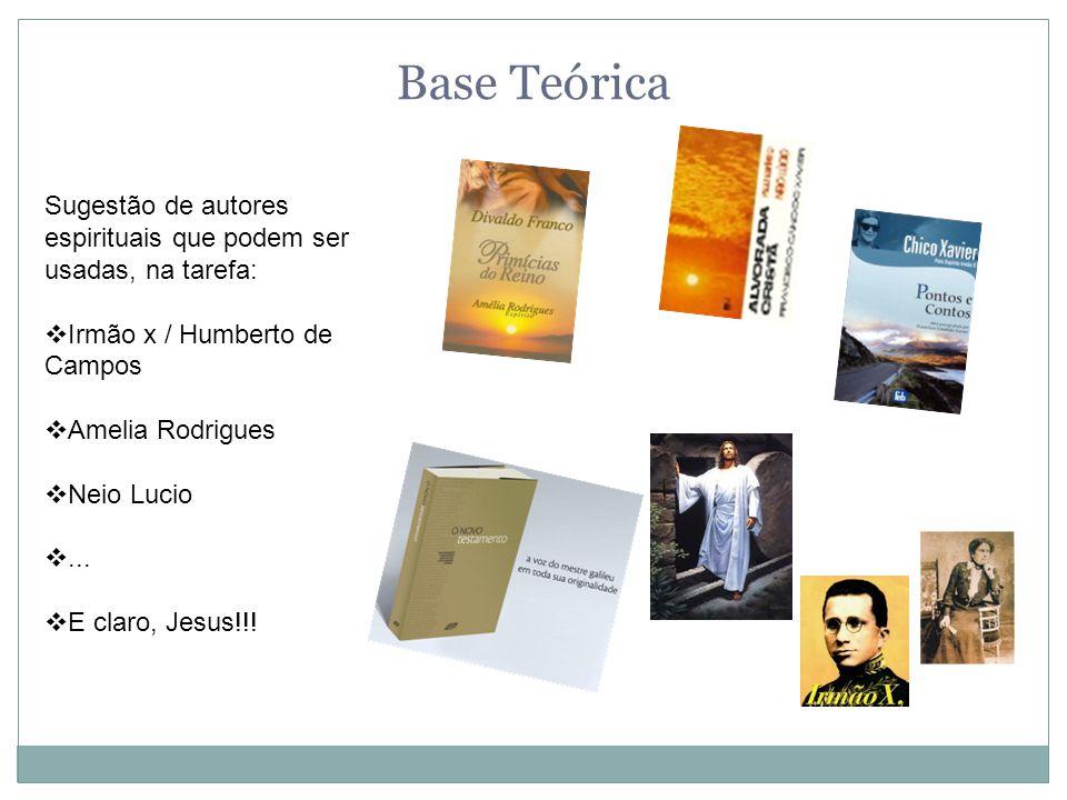 Base Teórica Sugestão de autores espirituais que podem ser usadas, na tarefa: Irmão x / Humberto de Campos.