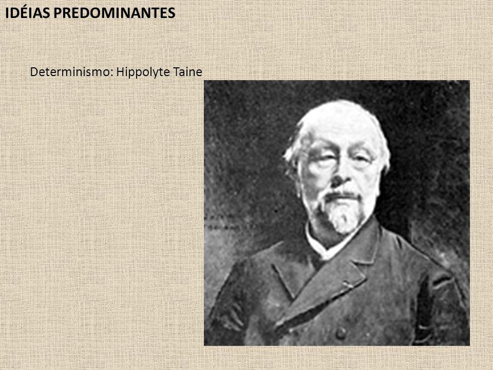 IDÉIAS PREDOMINANTES Determinismo: Hippolyte Taine