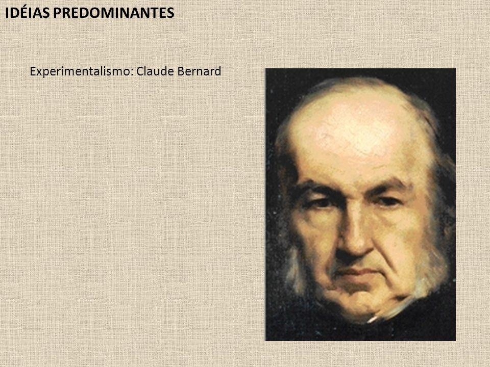 IDÉIAS PREDOMINANTES Experimentalismo: Claude Bernard