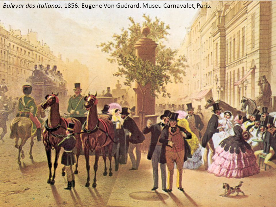 Bulevar dos italianos, 1856. Eugene Von Guérard