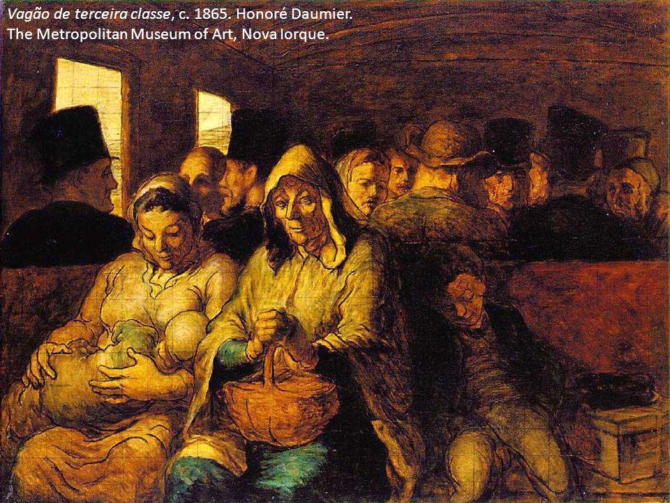 Vagão de terceira classe, c. 1865. Honoré Daumier