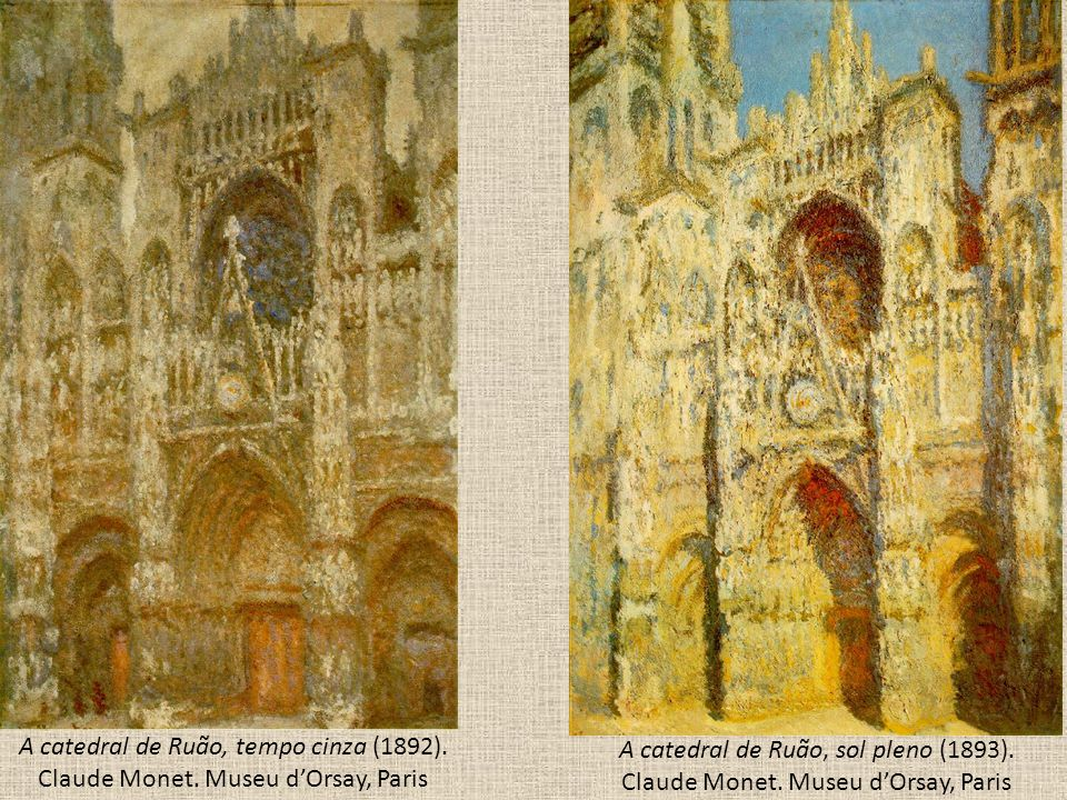 A catedral de Ruão, tempo cinza (1892). Claude Monet
