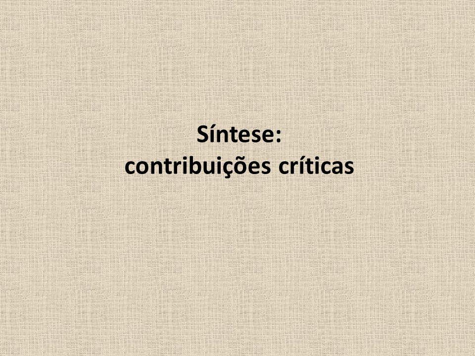 contribuições críticas