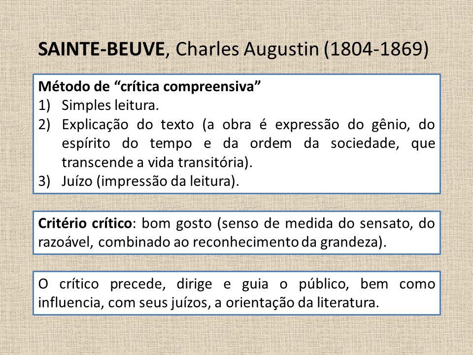 SAINTE-BEUVE, Charles Augustin (1804-1869)