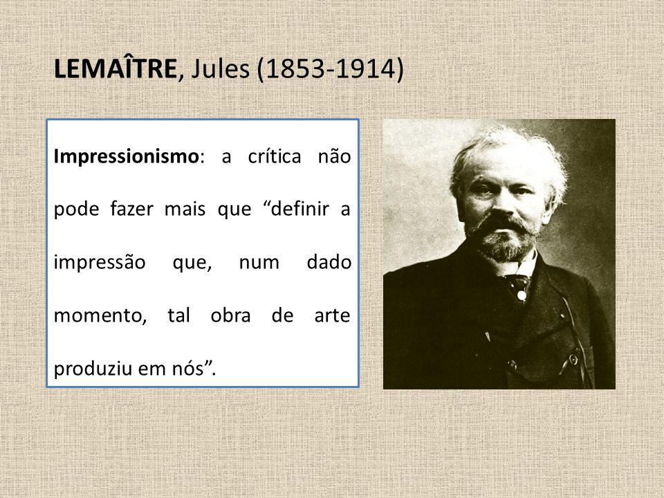 LEMAÎTRE, Jules (1853-1914)