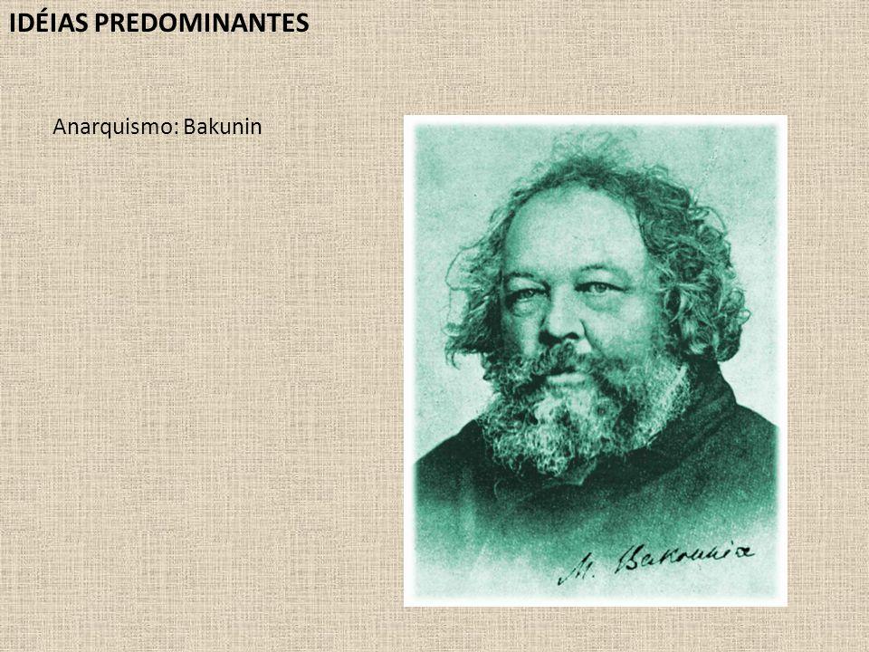 IDÉIAS PREDOMINANTES Anarquismo: Bakunin