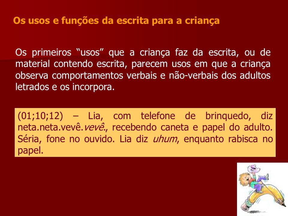 Os usos e funções da escrita para a criança