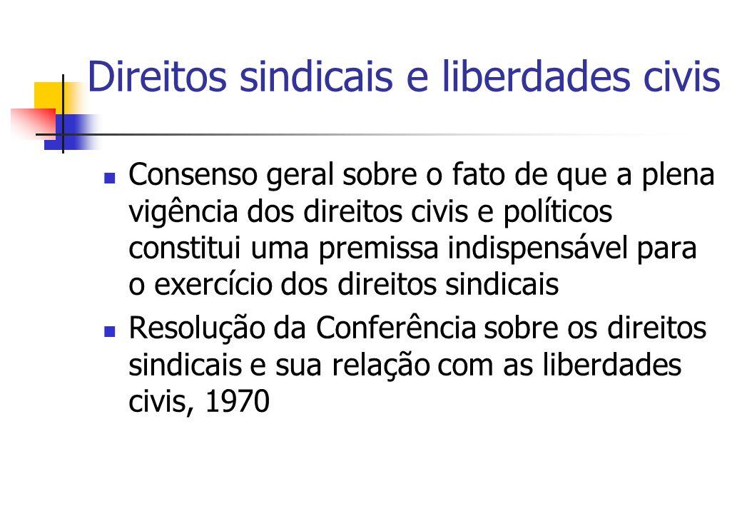 Direitos sindicais e liberdades civis