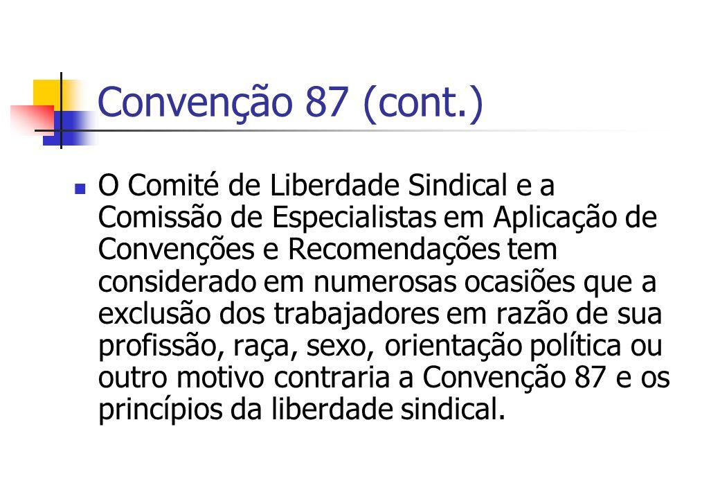 Convenção 87 (cont.)