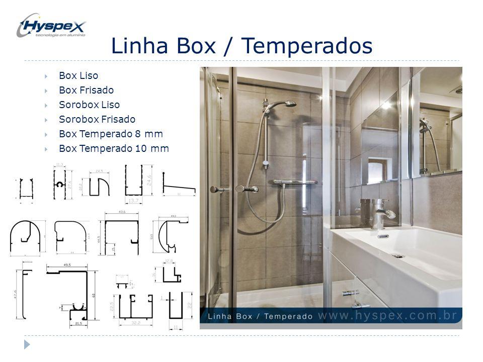 Linha Box / Temperados Box Liso Box Frisado Sorobox Liso