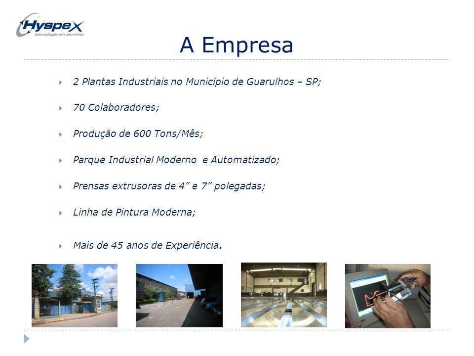 A Empresa 2 Plantas Industriais no Município de Guarulhos – SP;