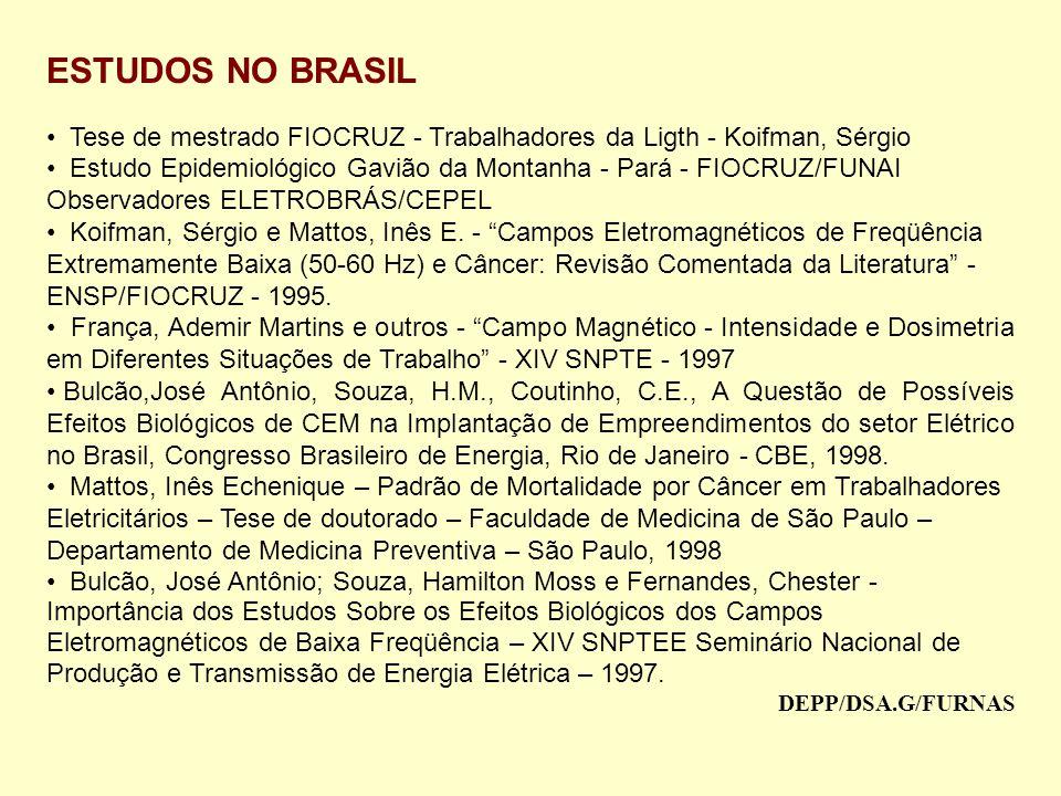 ESTUDOS NO BRASIL Tese de mestrado FIOCRUZ - Trabalhadores da Ligth - Koifman, Sérgio.