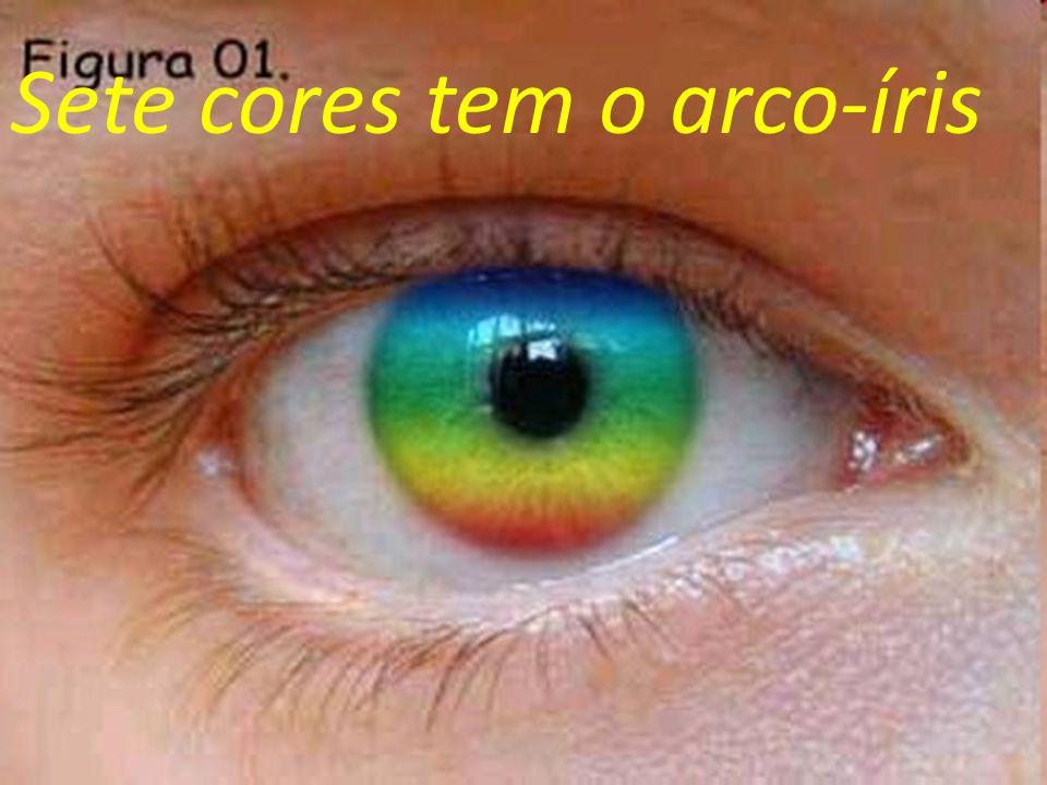 Sete cores tem o arco-íris