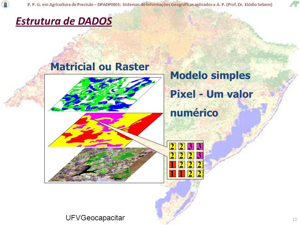 Estrutura de DADOS Matricial ou Raster Modelo simples