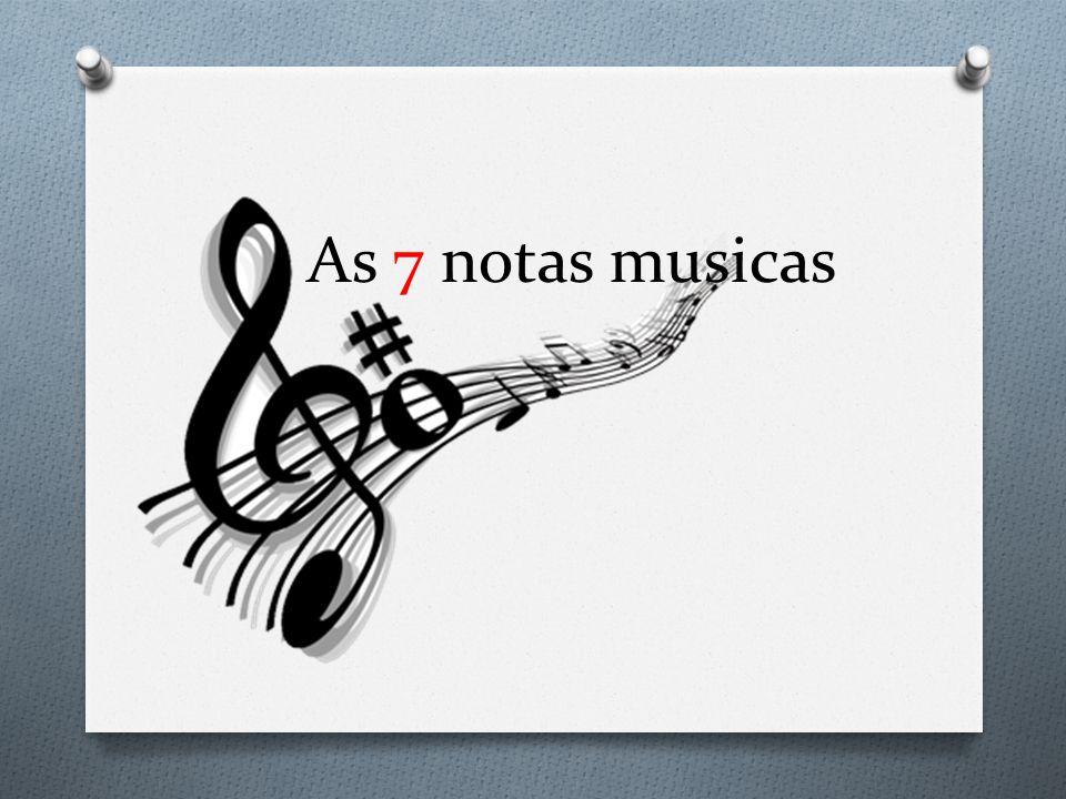 As 7 notas musicas