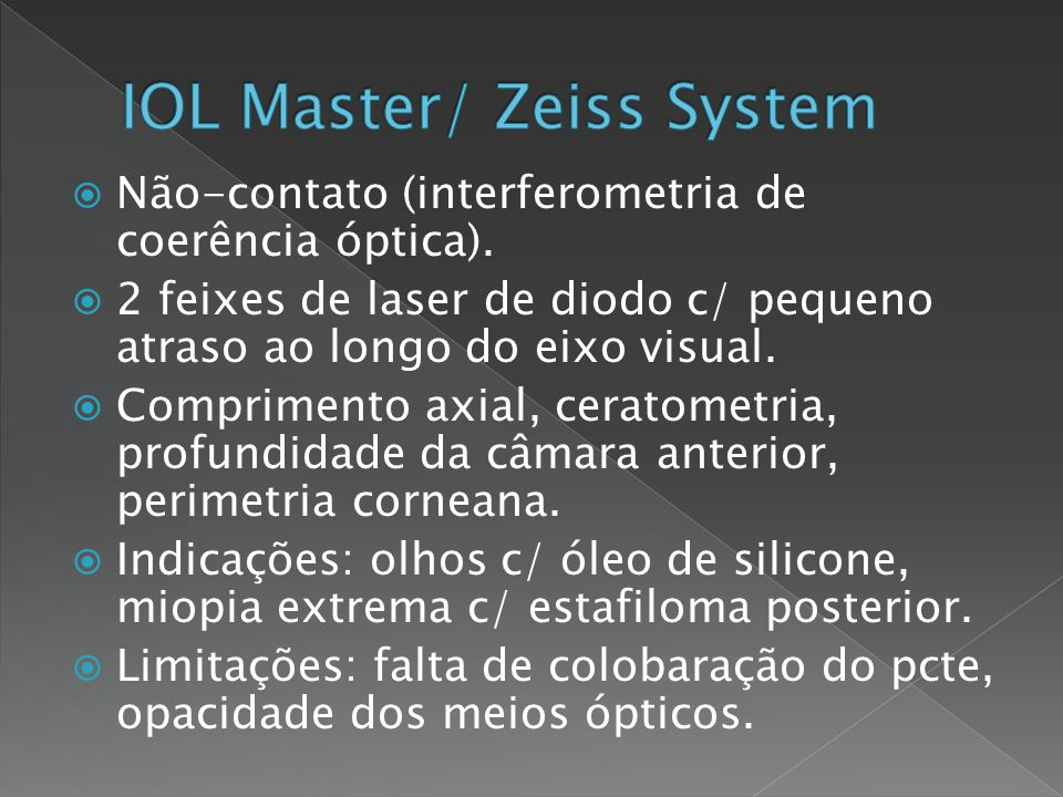 IOL Master/ Zeiss System