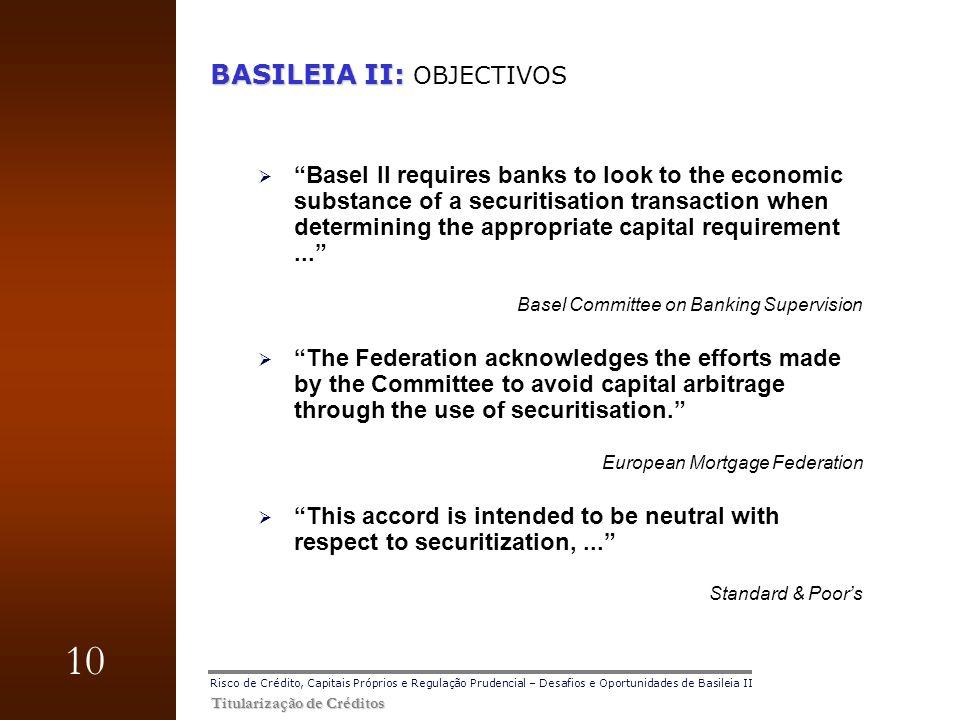 BASILEIA II: OBJECTIVOS