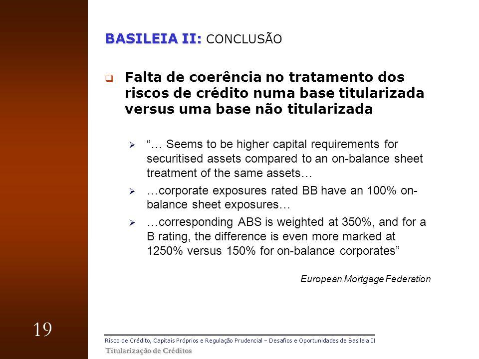 BASILEIA II: CONCLUSÃO