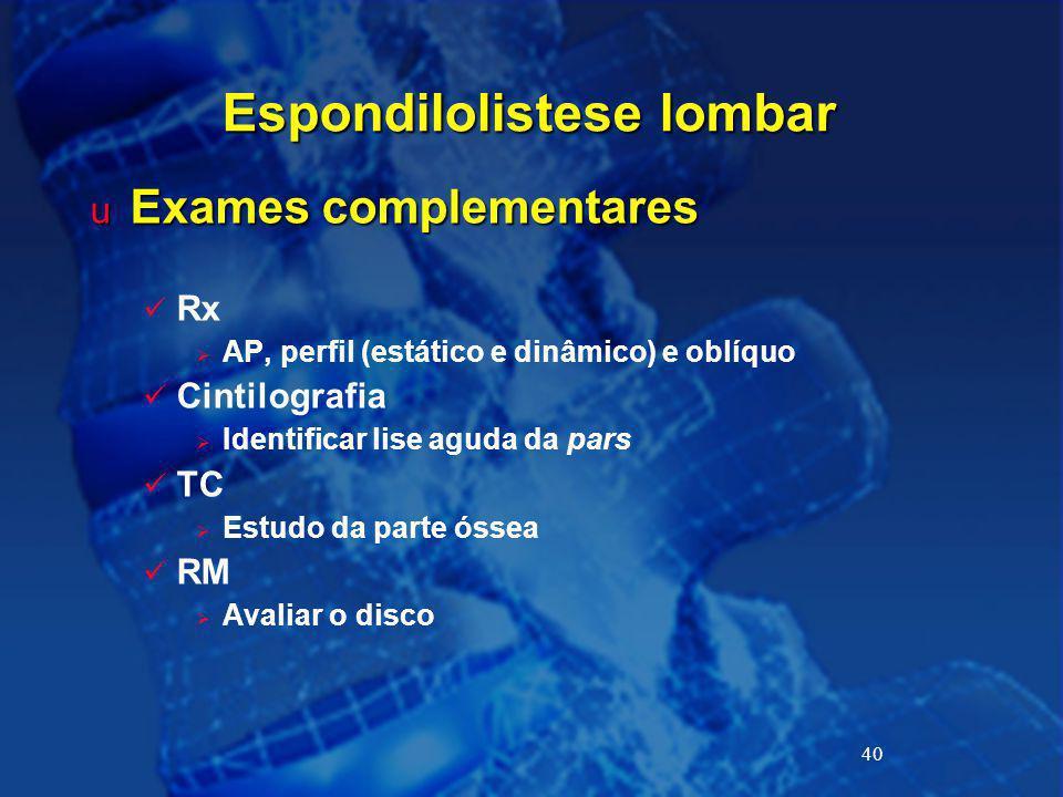 Espondilolistese lombar
