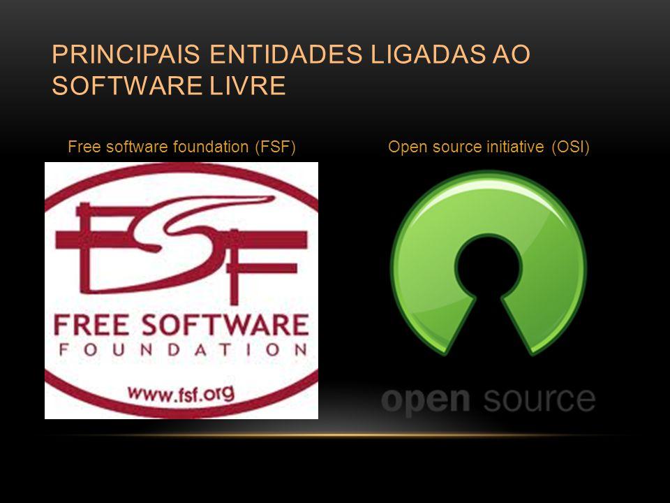 Principais entidades ligadas ao software livre