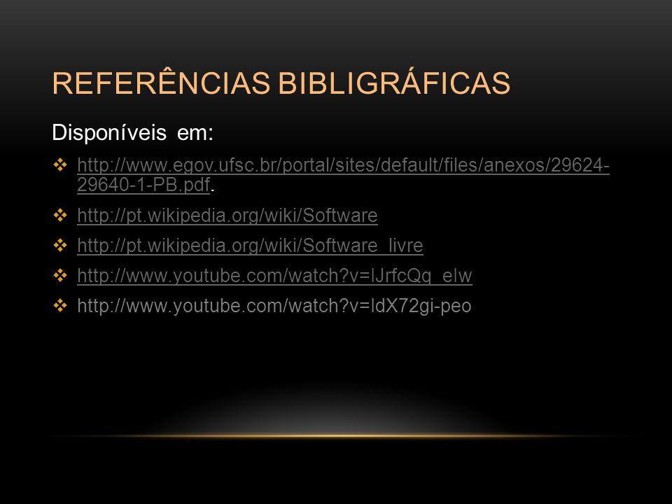 Referências bibligráficas