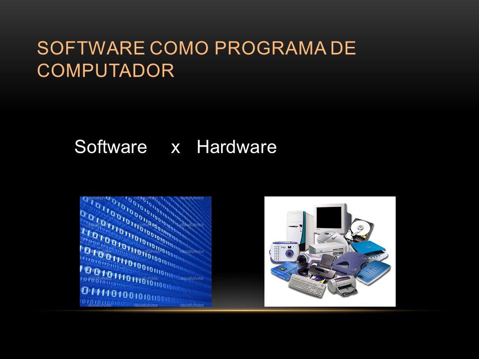 Software como programa de computador