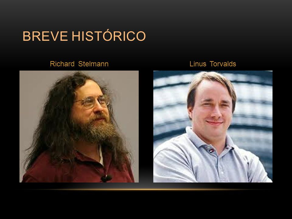 Breve histórico Richard Stelmann Linus Torvalds