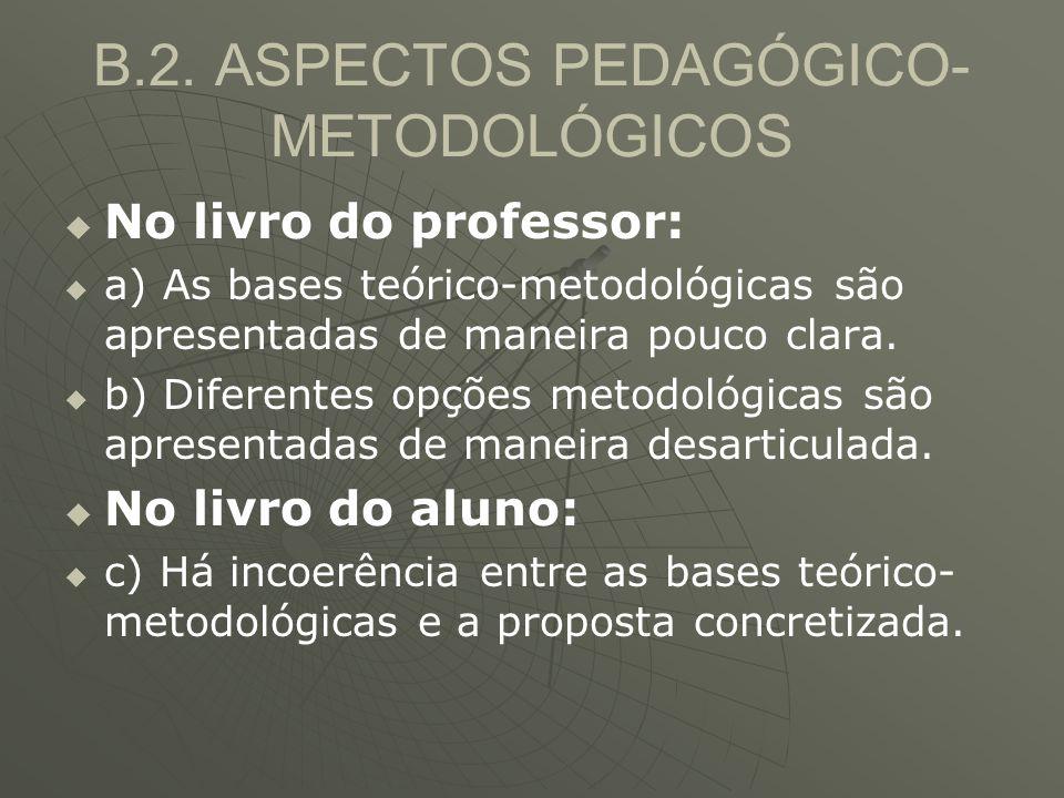 B.2. ASPECTOS PEDAGÓGICO-METODOLÓGICOS