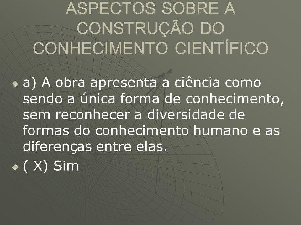 ASPECTOS SOBRE A CONSTRUÇÃO DO CONHECIMENTO CIENTÍFICO