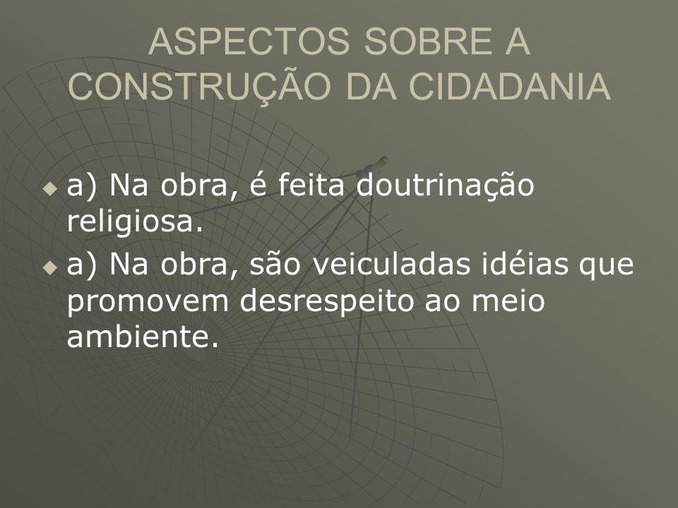 ASPECTOS SOBRE A CONSTRUÇÃO DA CIDADANIA