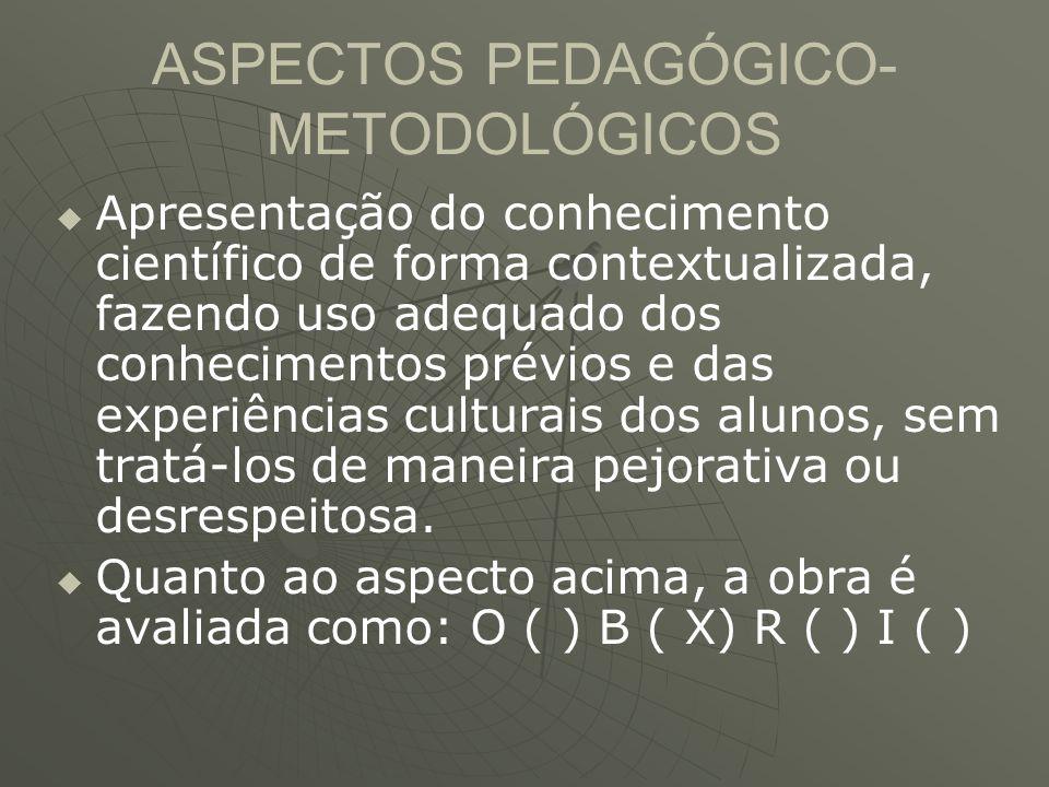 ASPECTOS PEDAGÓGICO-METODOLÓGICOS