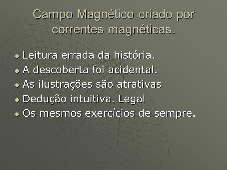 Campo Magnético criado por correntes magnéticas.