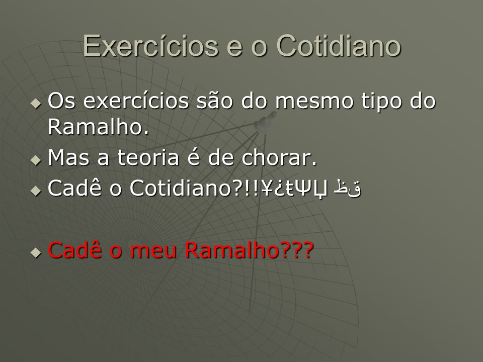 Exercícios e o Cotidiano