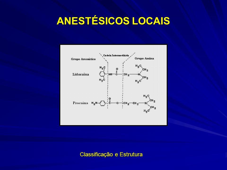 ANESTÉSICOS LOCAIS Classificação e Estrutura