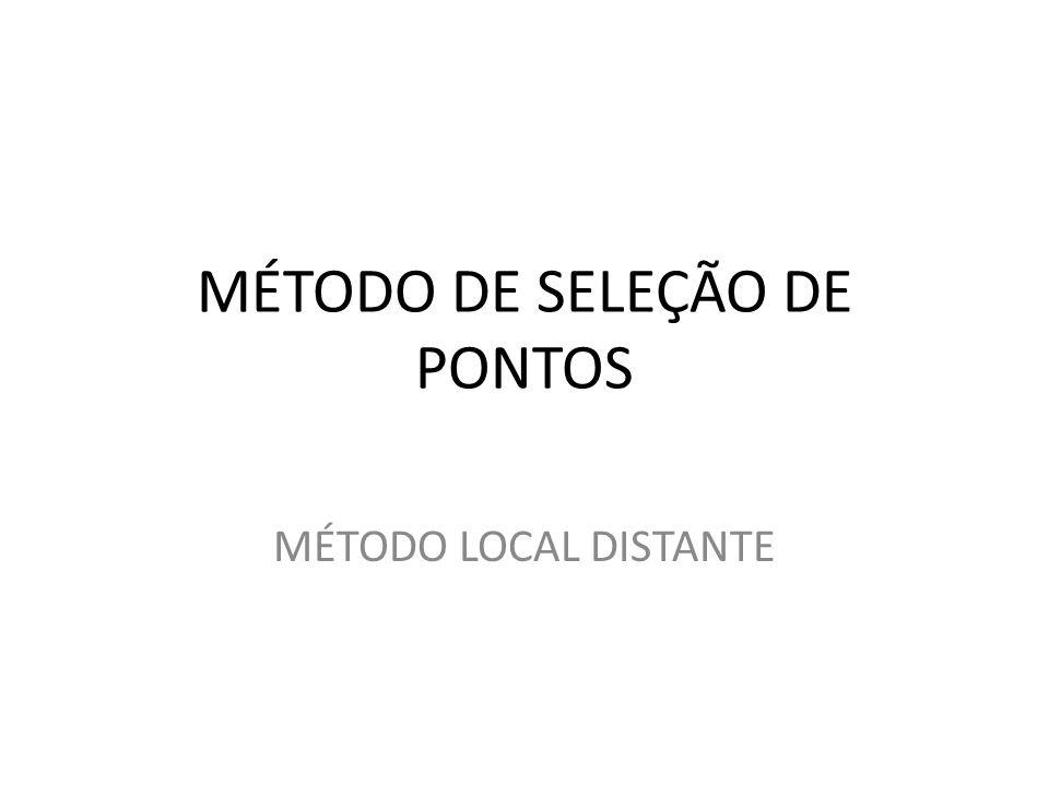 MÉTODO DE SELEÇÃO DE PONTOS