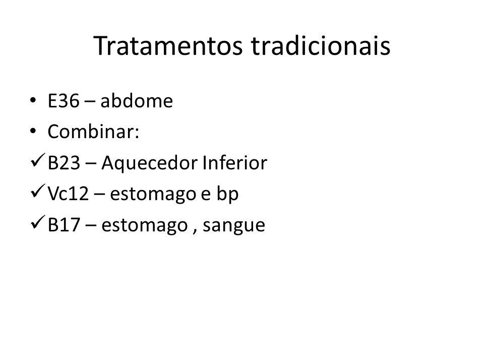 Tratamentos tradicionais