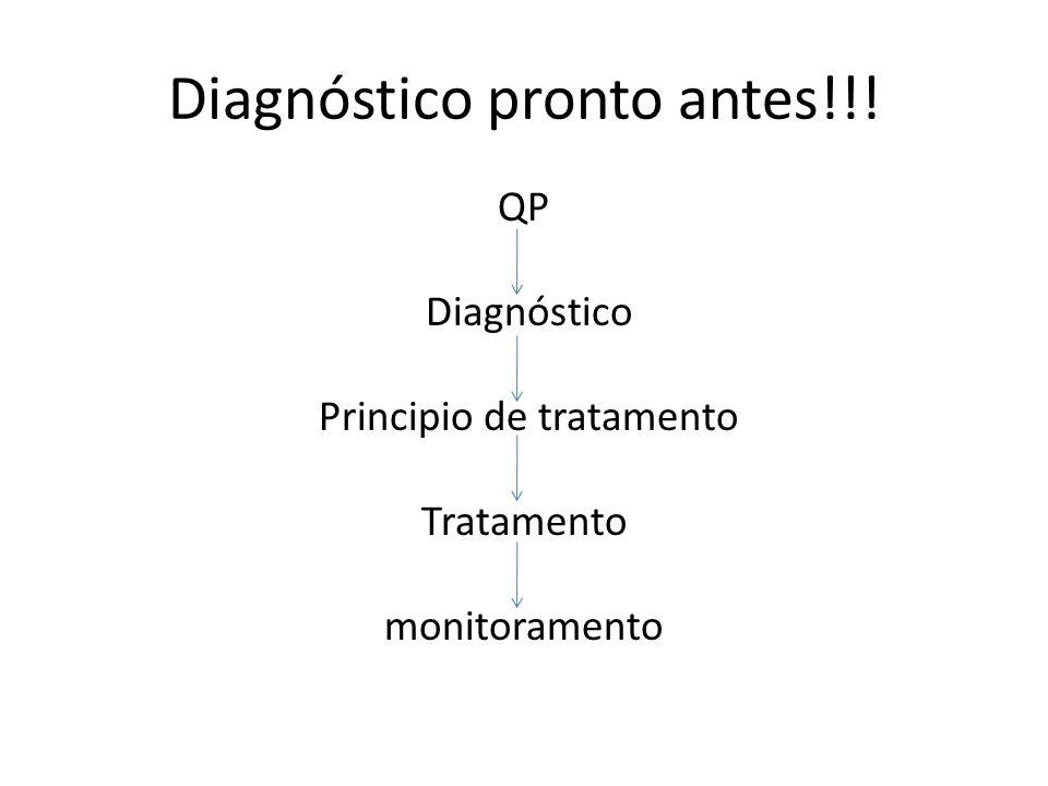 Diagnóstico pronto antes!!!